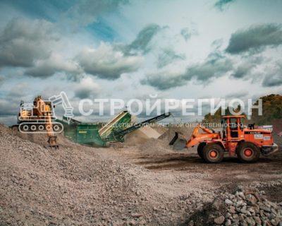 Переработка бетонного лома в щебень