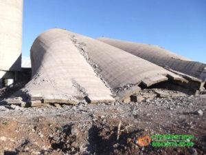 демонтаж дымовых труб силосных башен градирни