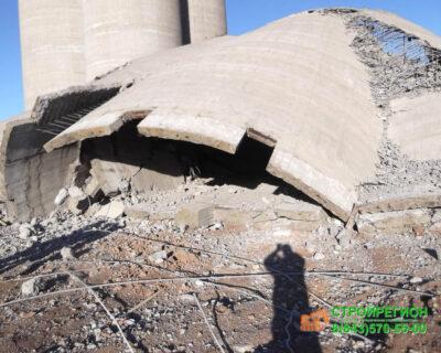 Демонтаж силосных корпусов на территории ЗАО «МПЗ «ТЕМПО»