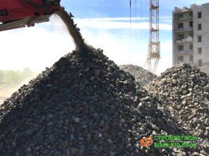 Дробление бетона, рециклинг, переработка бетоного боя, дробилка