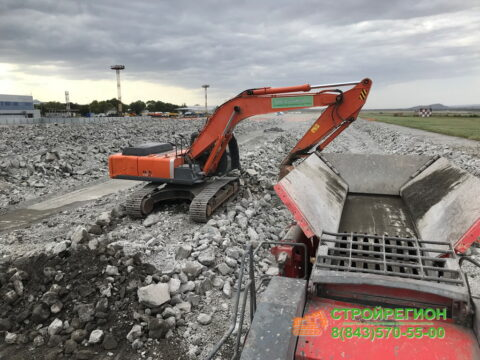 Демонтаж взлетно-посадочной полосы аэропорта Кольцово г. Екатеринбург